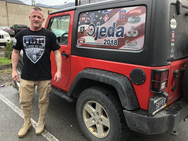 """I put over 50,000 miles on my Jeep this race alone,"" said Richard Ojeda, a Democrat running for Congress in West Virginia's 3rd Congressional District."