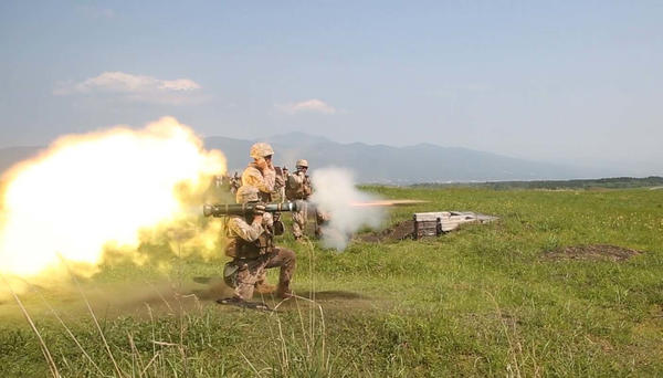 Sgt. John Wagley fires an AT4 anti-tank missile during a training session at Camp Fuji in Japan. Studies find that some who fire these weapons repeatedly have short-term problems with memory and thinking. It's still not clear, scientists say, whether those temporary changes can lead to permanent deficits.