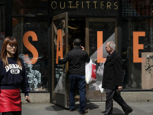 Analysts expected consumer spending growth to slow in the first quarter, curbing overall economic growth.