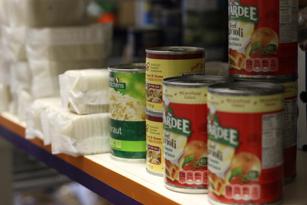 The Rising Up food pantry in Fort Morgan, Colorado, is one of only two locations in the area, aside from a mobile food pantry that comes to town once a month.