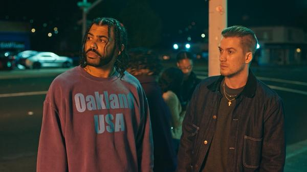 Daveed Diggs (left) and Rafael Casal wrote and star in <em>Blindspotting</em>, a stylish, timely look at issues of race, class and changing cities.