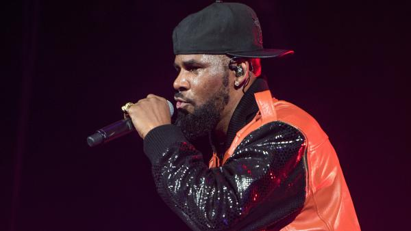R. Kelly, performing in 2015 in Brooklyn, New York.