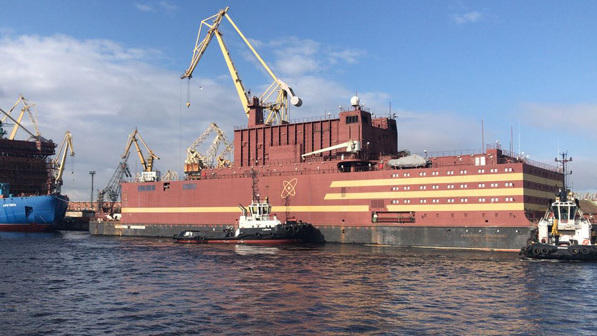 "The Akademik Lomonosov, which the Russian energy company Rosatom calls ""the world's only floating nuclear power unit,"" left port on Saturday."