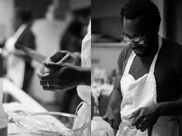 Tunde Wey cooks for the Blackness in America dinner series in Austin.