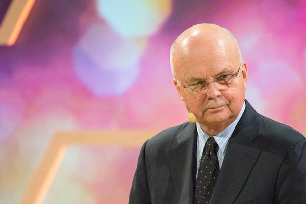 Michael Hayden, former Director of the CIA and NSA, speaks at Nobel Week Dialogue: the Future of Truth conference on Dec. 9, 2017, in Gothenburg, Sweden.