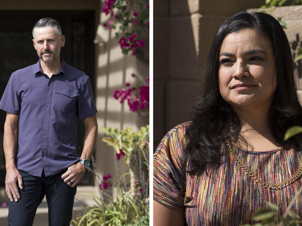 (Left) Sean Hahn is a realtor in Phoenix. (Right) Adriana Rodriguez is a former homeowner.