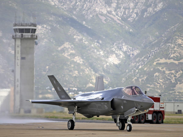 The F-35 Joint Strike Fighter, seen here at Hill Air Force Base in Utah, is the most expensive weapons system in Pentagon history.