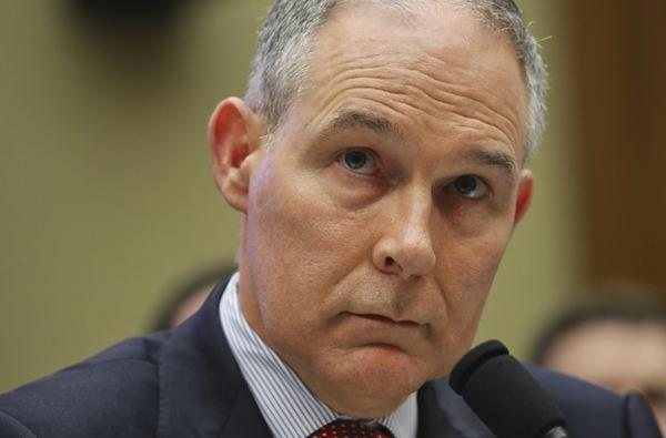 <p>Environmental Protection Agency Administrator Scott Pruitt listen to questions as he testifies before the House Energy and Commerce subcommittee hearing on Capitol Hill in Washington, Thursday, April 26, 2018.</p>