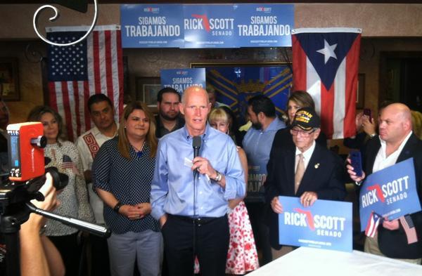 Gov. Scott stumps at La Casona Restaurant in West Tampa