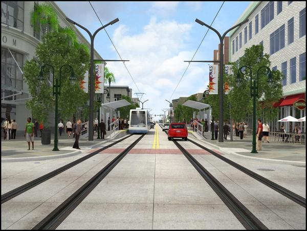 Part of the Wave's controversey, comes from opponents who argue the streetcar will only clog traffic more, by taking up a lane that would otherwise be for cars.