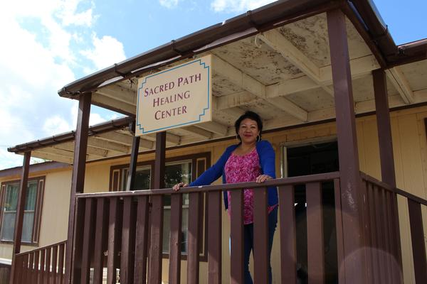 Melissa Martinez at Sacred Path Recovery in Taos Pueblo