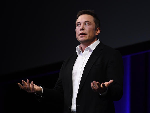 Elon Musk speaks at the International Astronautical Congress on Sept. 29 in Adelaide, Australia. On Wednesday, the Tesla CEO took analysts and the media to task.
