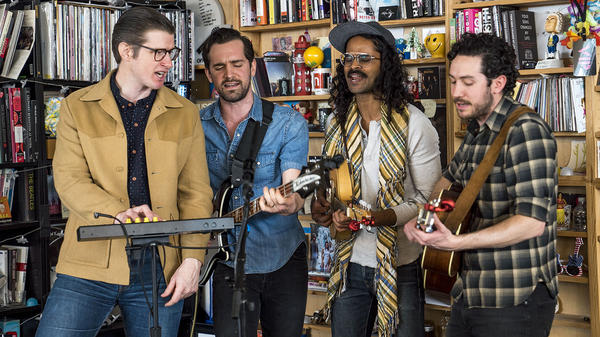 Darlingside perform a Tiny Desk Concert on April 2, 2018. Eslah Attar/NPR