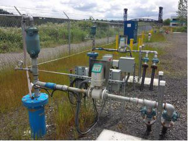 <p>Dozens of these wells pump contaminated groundwater on the NW Natural Property south of the St. Johns Bridge and treat it before releasing it into the river.</p>