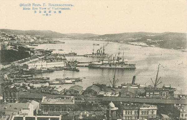 A view of the Vladivostok harbor. U.S. and other foreign troops began landing at the city's port in 1918.