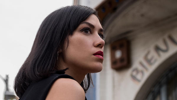 Mishel Prada plays the returning daughter Emma in Starz' half-hour drama <em>Vida</em>.