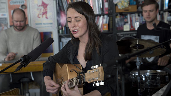 Gordi performs a Tiny Desk Concert on April 11, 2018 (Eslah Attar).