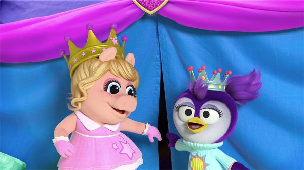 On <em>The Muppet Show,</em> Miss Piggy was obsessed with Kermit the Frog. But Piggy, her modern incarnation on Disney Junior's <em>Muppet Babies, </em>is BFFs with Summer, a laid back, creative penguin.