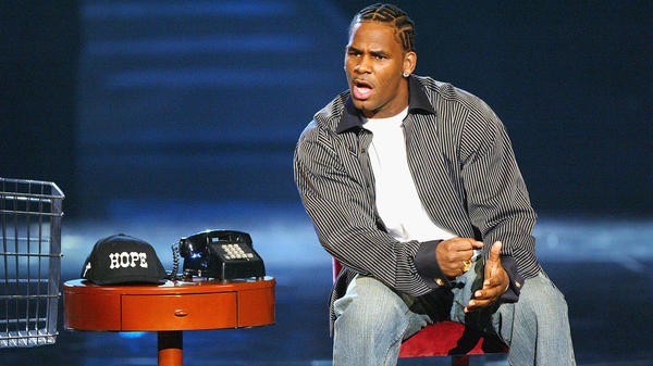 Singer R. Kelly performs onstage in Los Angeles in 2004.