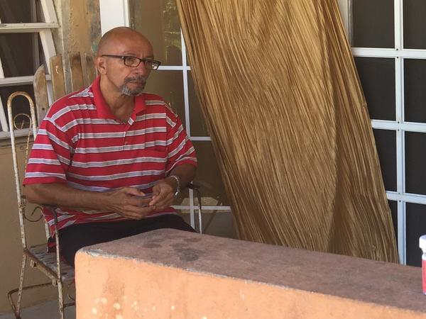 Don Gregorio has lived all his life in the same home in Humacao, a city on Puerto Rico's eastern coast that was hard-hit by Hurricane Maria. Many of his old friends have since left for the mainland, the former carpenter says, and he feels very alone.