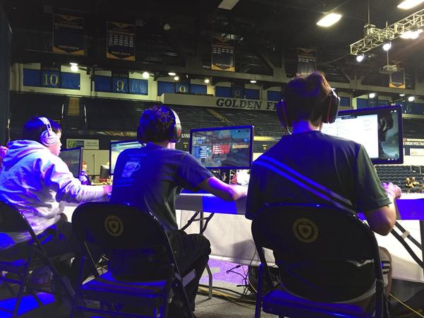 Seven six-person teams competed at Kent State's first eSports competition on Saturday, where the school announced a scholarships for gamers this fall.