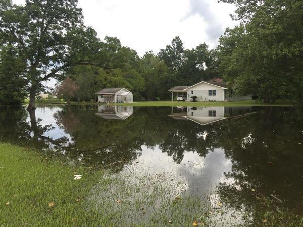 Flooding in Gonzales, Louisiana; August 2016