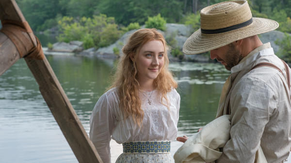 Nina (Saoirse Ronin) falls for novelist Boris Trigoren (Corey Stoll) in <em>The Seagull, </em>an adaptation of Chekhov's play of the same name.