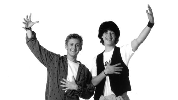 Alex Winter (left) and Keanu Reeves in a promotional photo for <em>Bill & Ted's Excellent Adventure</em> in 1989.