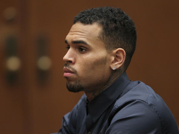 Singer Chris Brown in a Los Angeles court for a probation hearing in 2014, after pleading guilty to assaulting Rihanna.