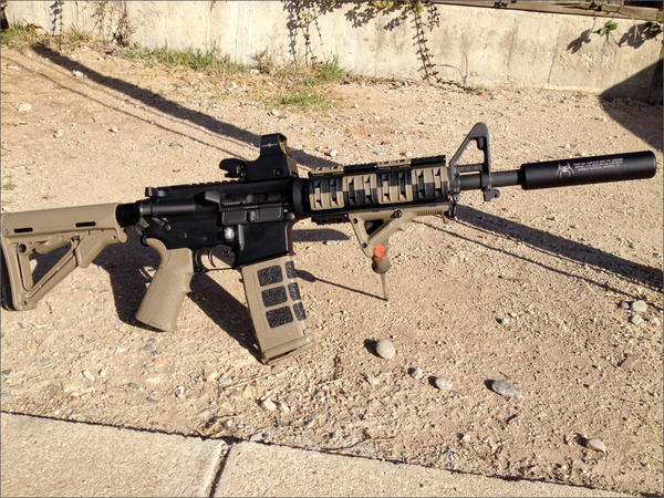 File photo of a modified civilian legal AR-15.