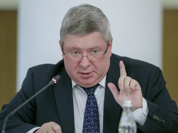 Russian official Alexander Torshin, appearing in Moscow in 2016, was sanctioned by the U.S. government in April, suspending years of travel back to 2009 during which he cultivated ties with American conservatives.