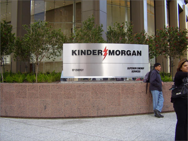 File photo of the Kinder Morgan Building in Houston.