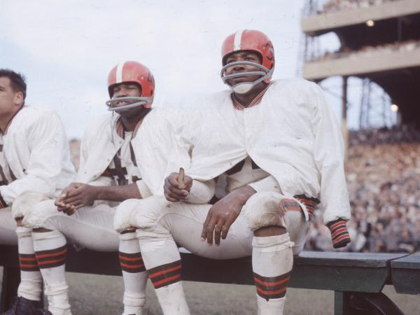 Jim Brown, a star running back for the Cleveland Browns in the late 1950s and early 1960s, is the subject of a new biography by <em>The Nation</em> sports editor<em> </em>Dave Zirin.