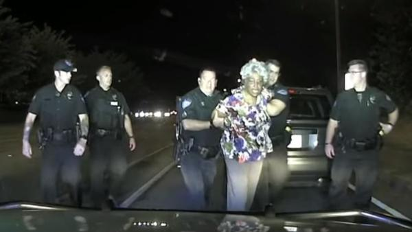 """I just panicked. I just, it was like my heart exploded,"" Rose Campbell told local WSB TV, after she was pulled from her vehicle and screamed at during an arrest over a traffic stop."