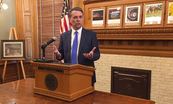 Gov. Colyer speaking after signing the bills into law.