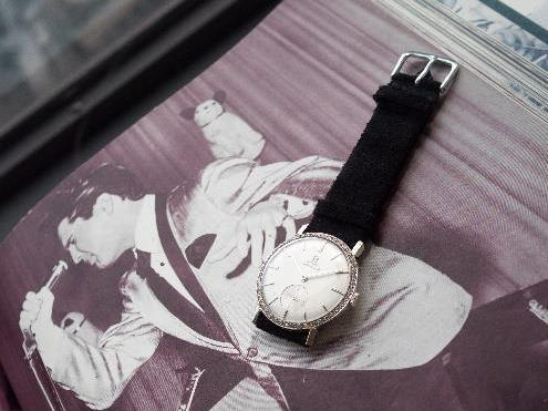 Elvis Presley's customized watch will be auctioned in Geneva, Switzerland on Saturday.