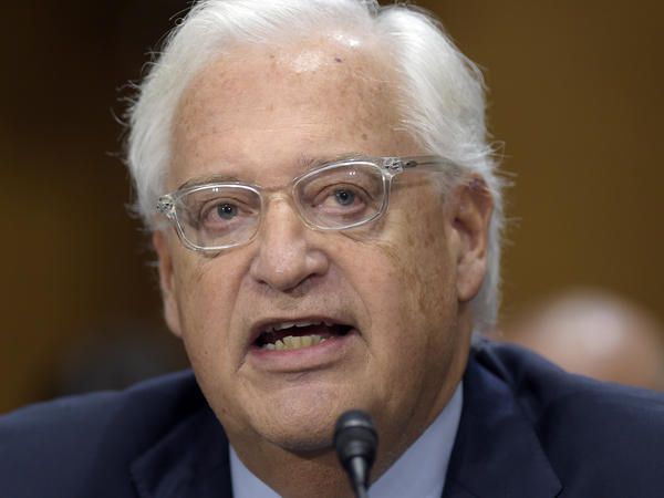 David Friedman, testifies on Capitol Hill in Washington during his confirmation hearing in Feb. 2017.
