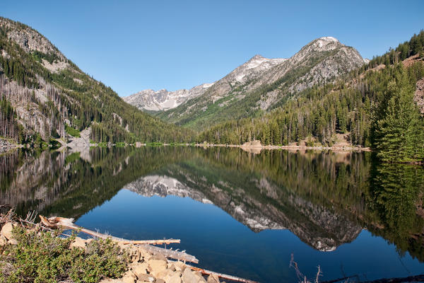 Eightmile Lake in the Alpine Lakes Wilderness. A century-old dam there is now under threat from floodwaters.