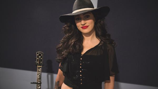 Lindi Ortega inside the World Cafe Performance Studio.