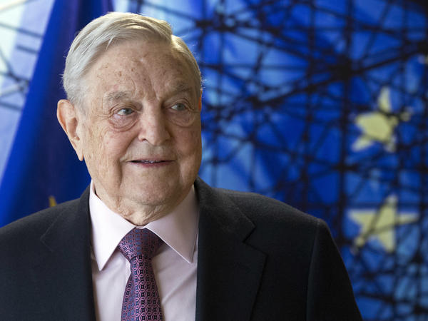 George Soros, founder and chairman of the Open Society Foundations, before the start of a meeting at EU headquarters in Brussels in 2017.