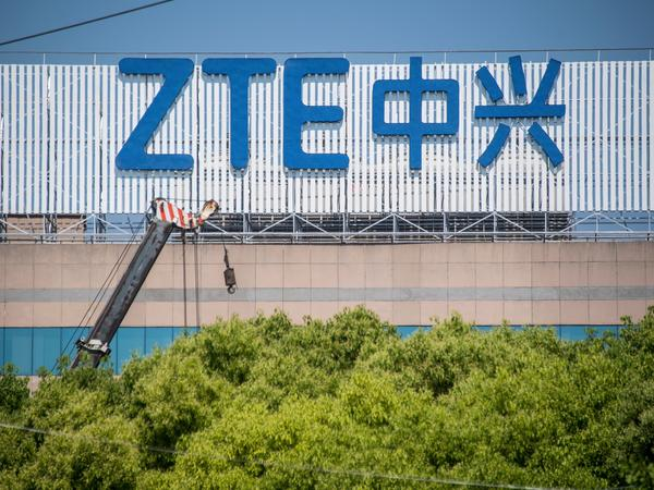 "Chinese telecom giant ZTE said its major operations had ""ceased"" following last month's US ban on American sales of critical technology to the company,"