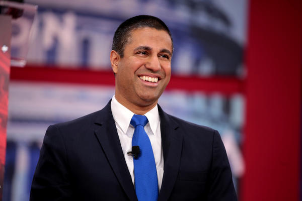 FCC chair Ajit Pai speaks at the 2018 Conservative Political Action Conference.
