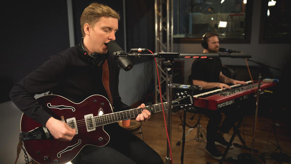 George Ezra inside the World Cafe Performance Studio.