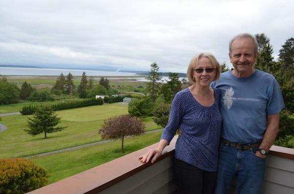 <p>The Swansons' Whidbey Island home overlooks Admiralty Bay.</p>