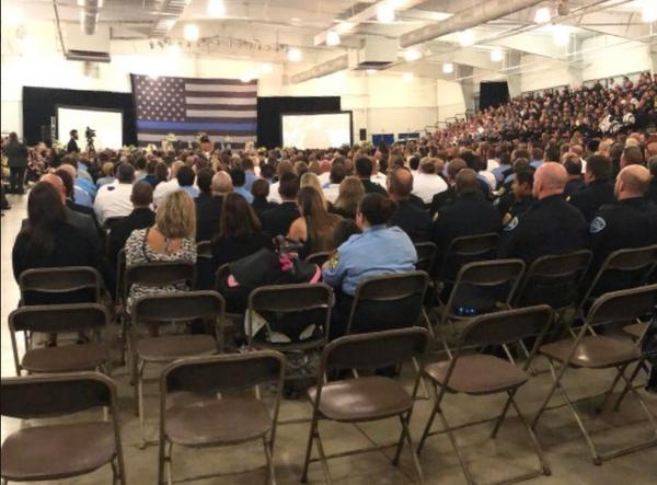 Highlands County Sheriff's officials estimated over 3,500 people attended Tuesday's funeral for Dept. William Gentry, who was shot to death May 6.