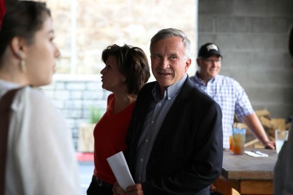 <p>GOP gubernatorial candidate Sam Carpenter hosts election night party at Wubba's BBQ Shack in Bend, Oregon. </p>
