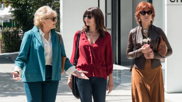 "Candice Bergen, Mary Steenburgen, and Jane Fonda are freed of their inhibitions after reading ""Fifty Shades of Grey"" in <em>Book Club. </em>"