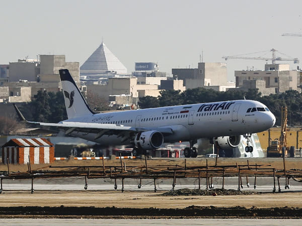 An Airbus A321 airliner arrives at Tehran's Mehrabad International Airport during the delivery of the first batch of planes to Iran Air on Jan. 12, 2017. Europe's Airbus has a contract to provide 100 aircraft to the Iranian airline.