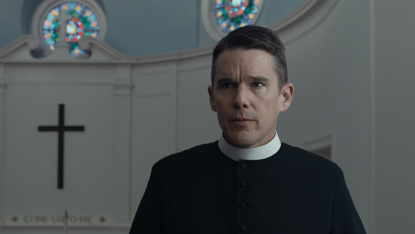 Ethan Hawke has said that his great-grandmother longed for him to be a priest; he plays a conflicted Christian minister in <em>First Reformed.</em>