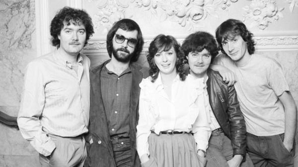 Noel Duggan, Ciaran Brennan, Moya Brennan, Padraig Duggan and Paul Brennan of Clannad on November 24, 1982.